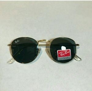 NWT Round Ray-Ban Sunglasses Rb3447 black/gold